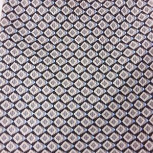 Nautica Necktie Silk Diamond Pattern Black Silver